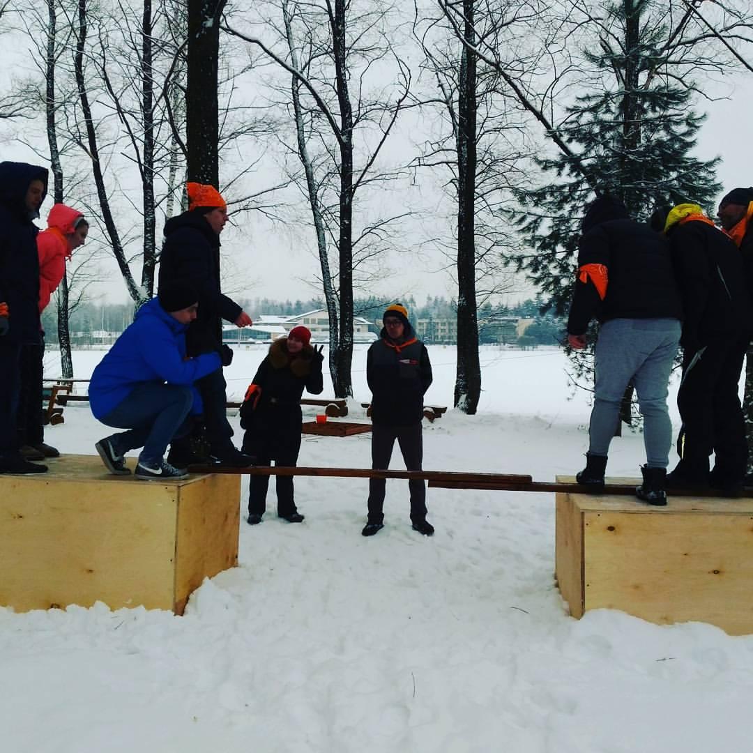 Фото проведения тимбилдинга по программе Мост от Red-g