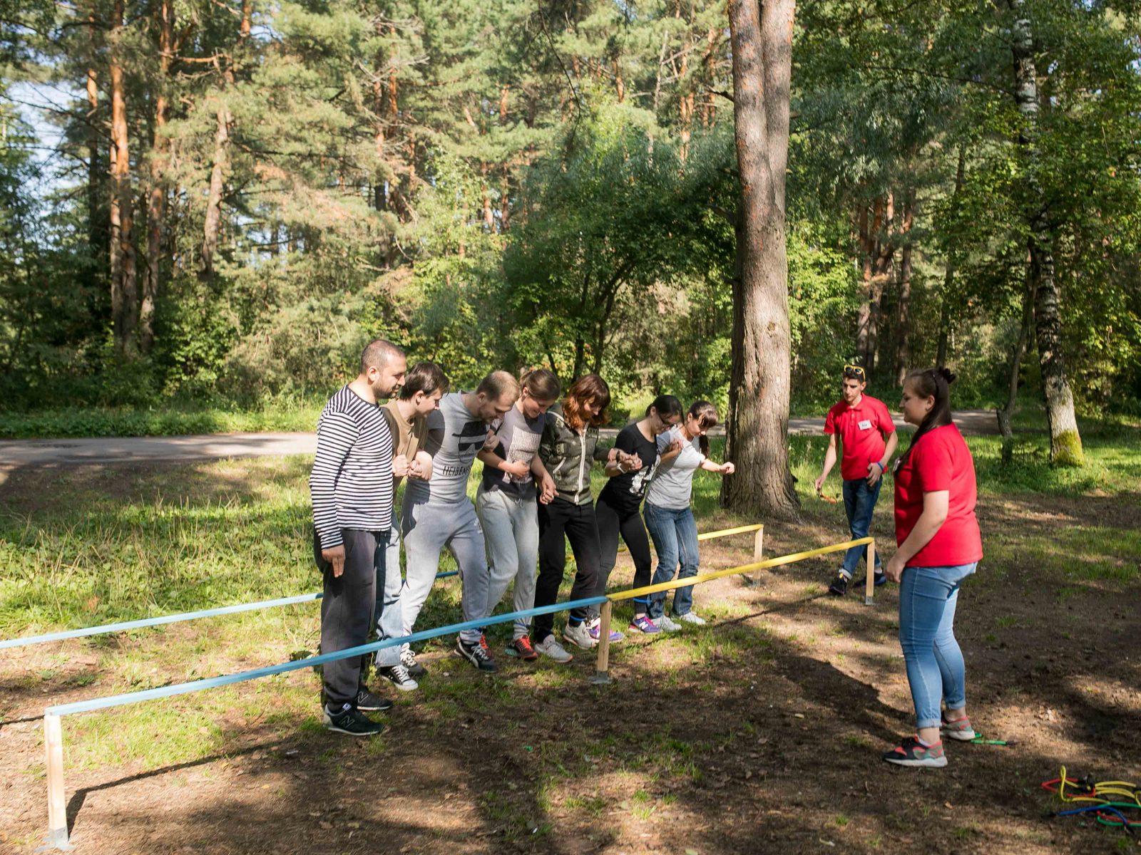 Фото проведения тимбилдинга по программе Барьер от Red-g