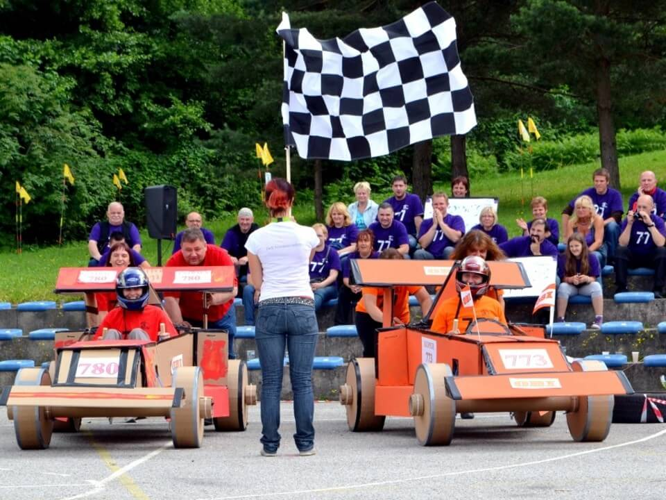 Фото проведения тимбилдинга по программе Формула 1 от Red-G