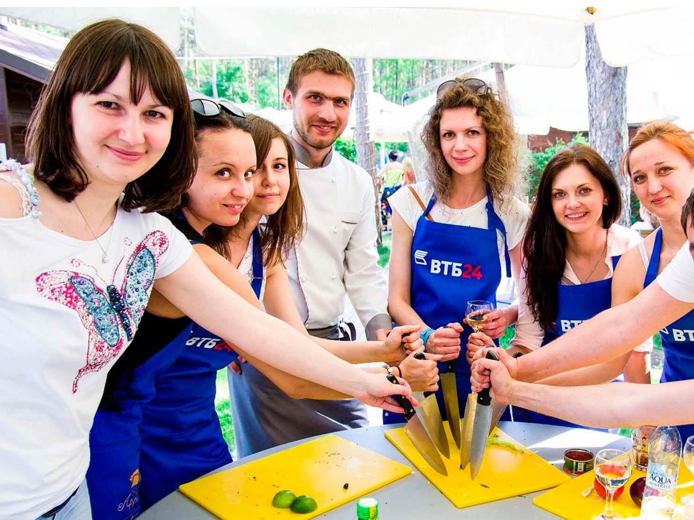 Фото проведения кулинарного тимбилдинга от Red-G