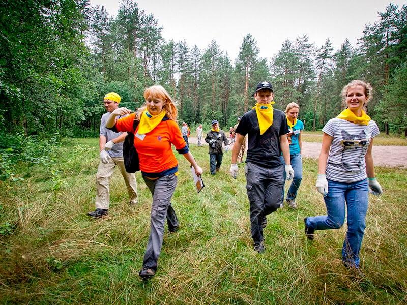 Фото проведения тимбилдинга по программе МегаПрятки от RedG