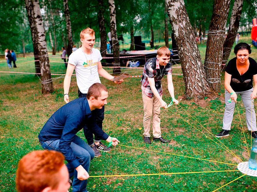 Фото проведения тимбилдинга по программе Муравейник от Red-g