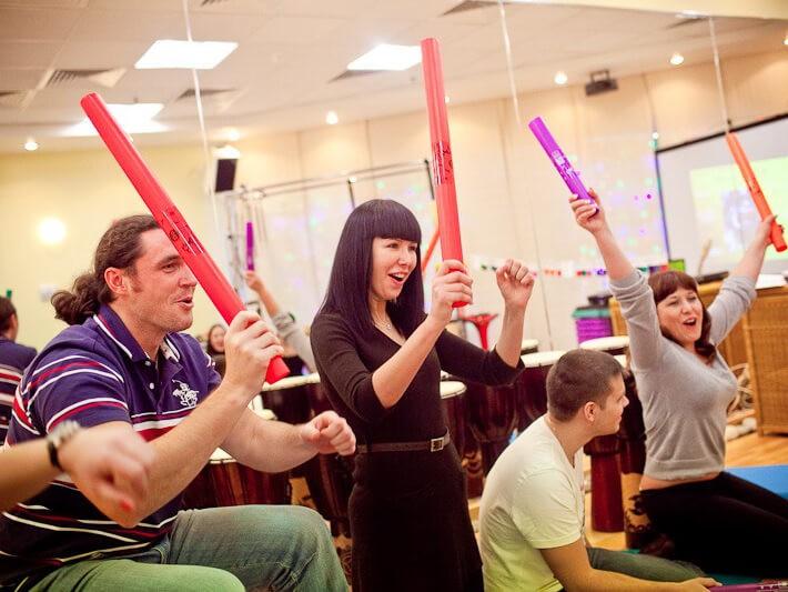 Фото проведения музыкального тимбилдинга от RedG