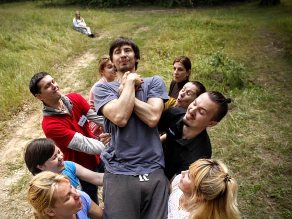 Фото проведения тимбилдинга по программе Падение от RedG