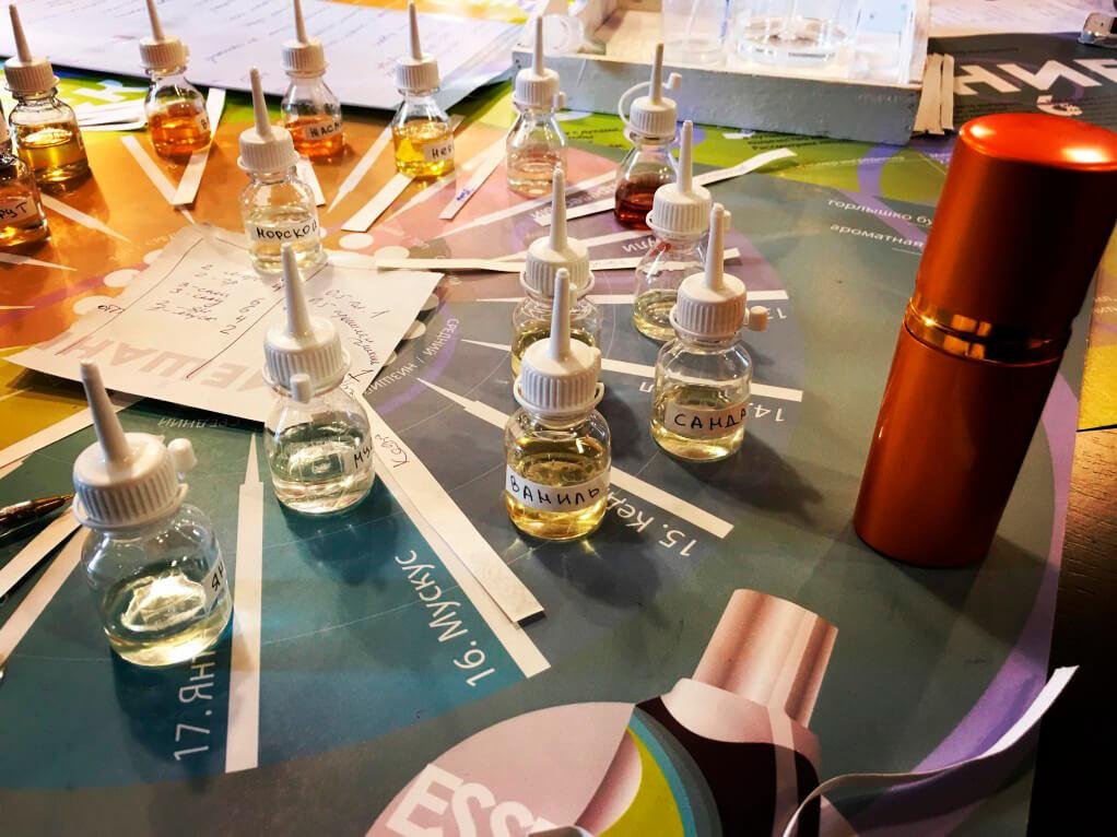 Фото проведения парфюмерного тимбилдинга от Red-G