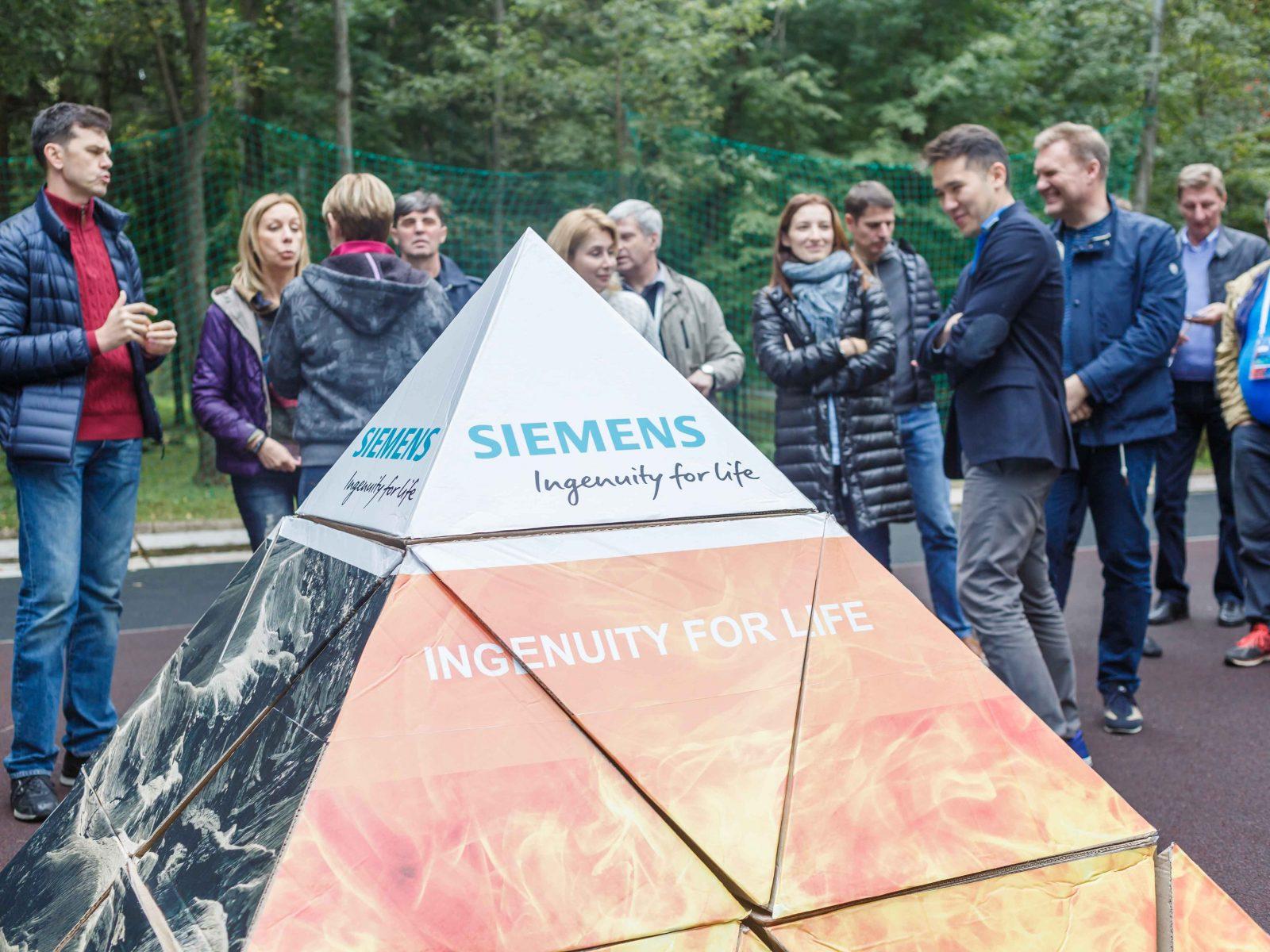 Фото проведения тимбилдинга по программе Пирамида от Red-G