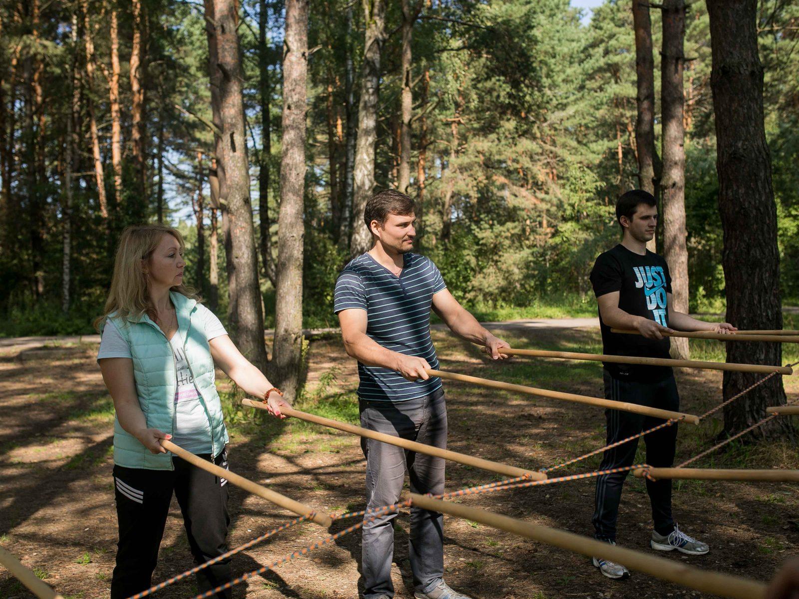 Фото проведения тимбилдинга по программе Рельсы от Red-g