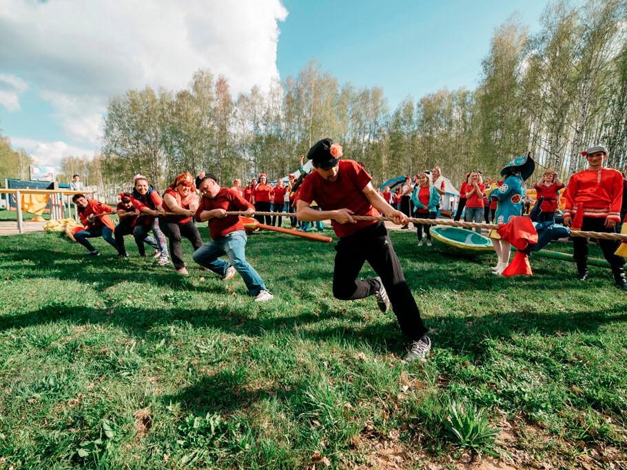 Фото проведения тимбилдинга по программе Русская былина от Red-G