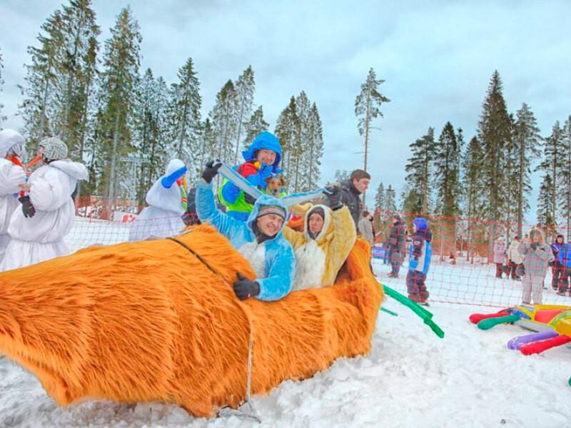 Фото проведения тимбилдинга по программе Снежный дрифт от RedG