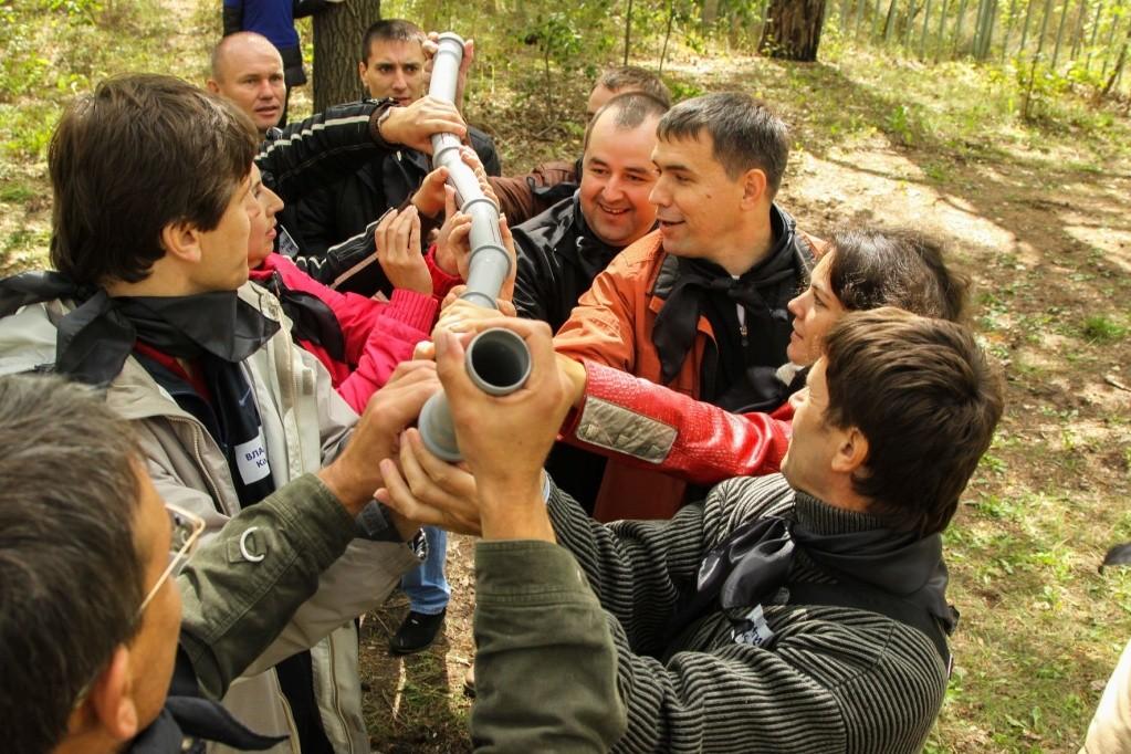 Фото проведения тимбилдинга по программе Трубы от Red-g
