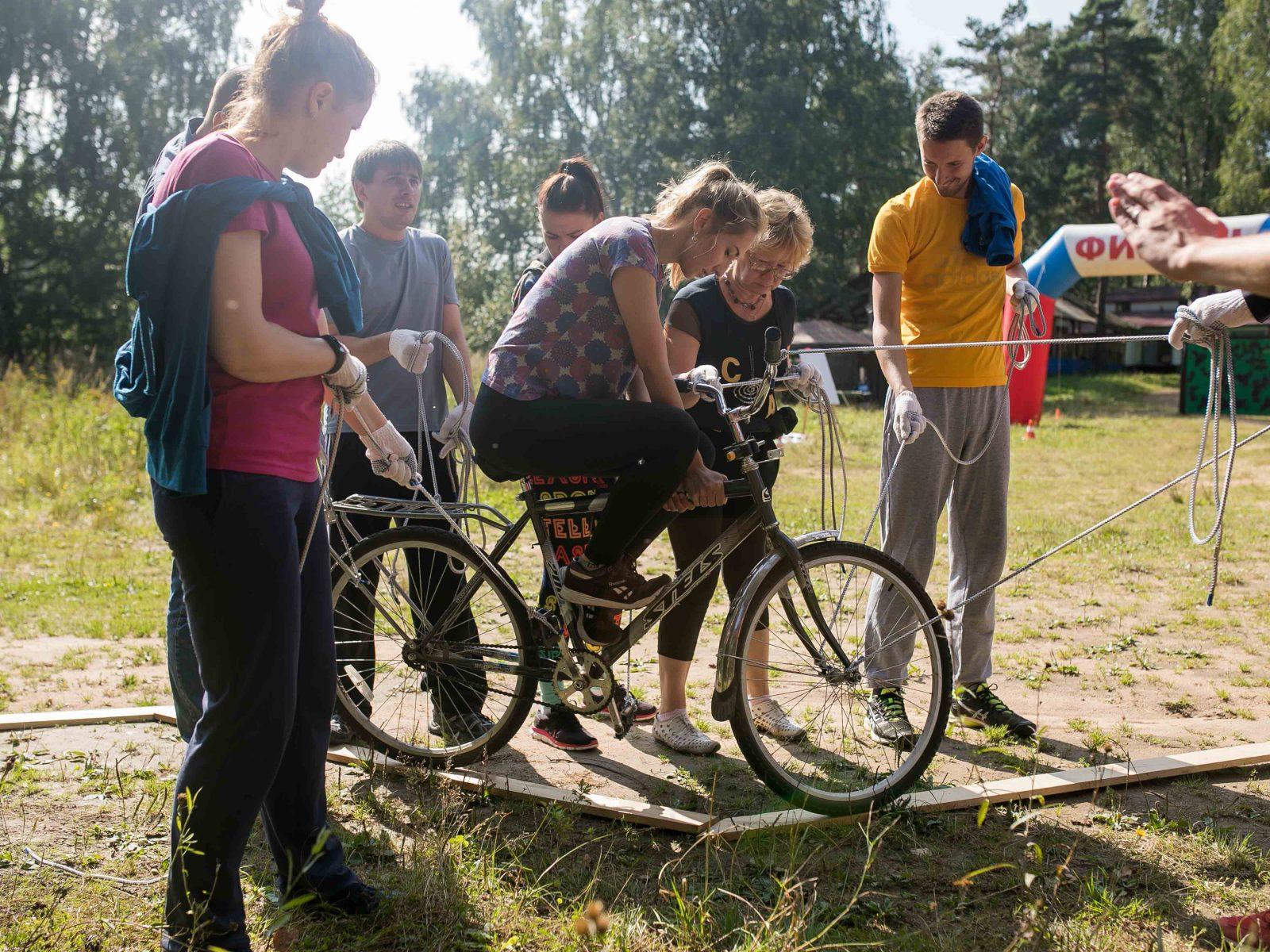 Фото проведения тимбилдинга по программе Велосипед от RedG