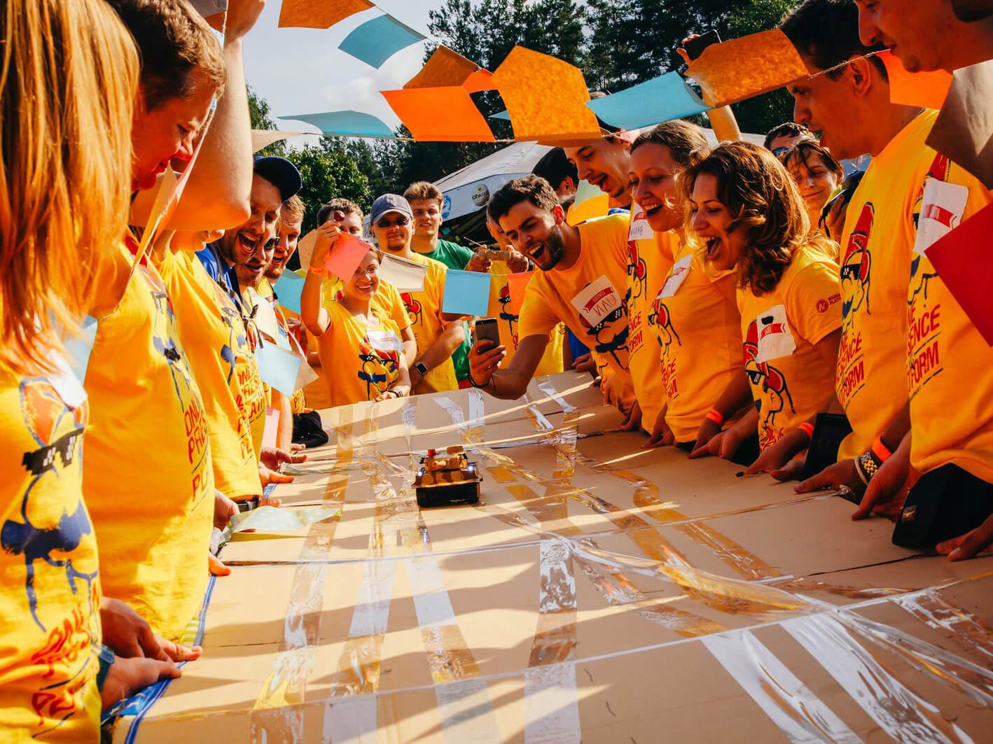 Фото проведения тимбилдинга по программе Вокруг света от Red-G