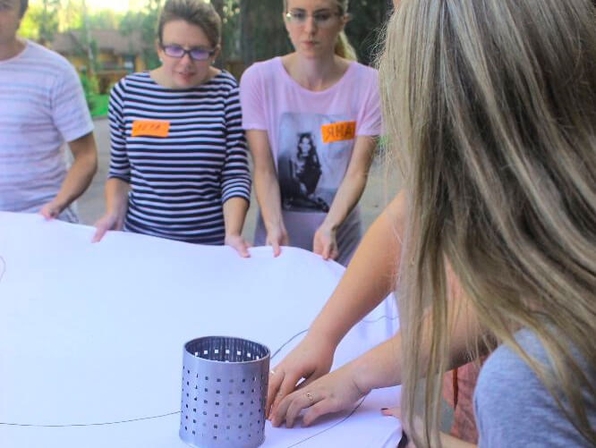 Фото проведения тимбилдинга по программе Кружка от Red-g
