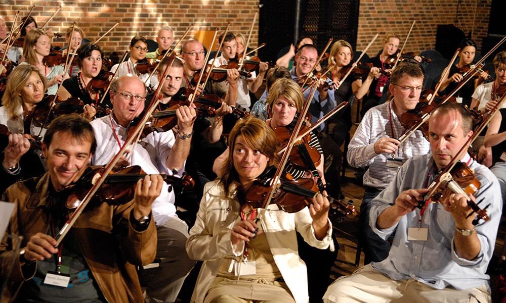 Фото проведения тимбилдинга по программе Оркестр от RedG