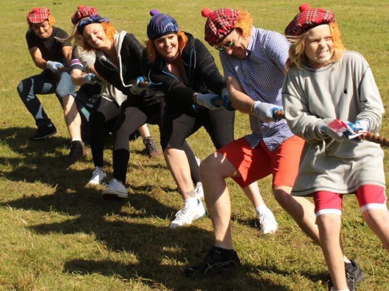 Фото проведения активного тимбилдинга от RedG