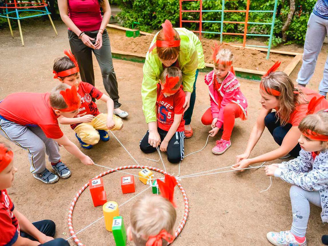 Фото проведения детского веревочного курса от RedG