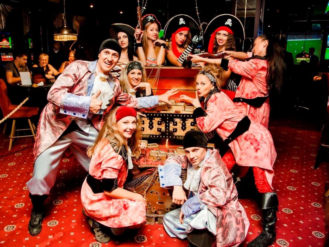 Фото проведения корпоратива в пиратском стиле от Red-G