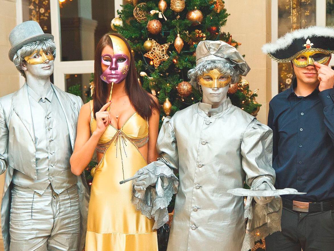 Фото проведения корпоратива в стиле Венецианский карнавал от Red-G